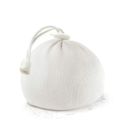 (Refillable Chalk Bag, Chalk Ball - Ideal for Rock Climbing, Weight Lifting, Gym, Workout, Gymnastics and Powerlifting - Workout eBook for Elite Lifting Techniques (White))