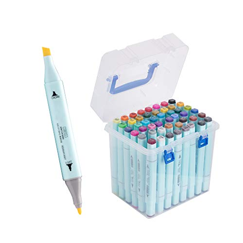 48 Colors Alcohol Brush Markers Double Tipped Sketch Markers for Kids, Artist Art Markers for Sketching, Adult Coloring and Illustration