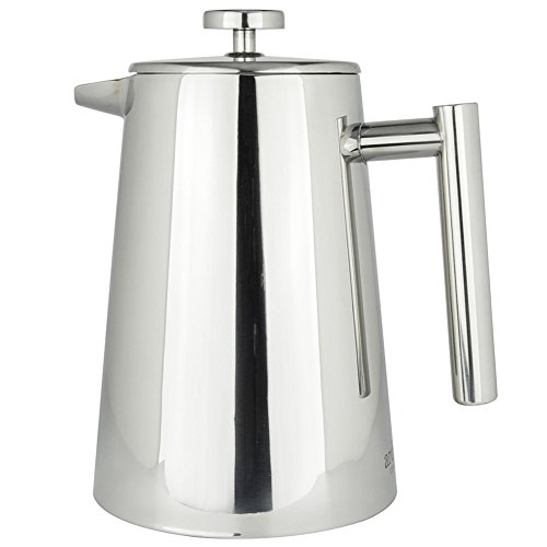 Stainless Steel French Press Coffee Tea Maker Ardito Coffee AC1LSSCP 4 8 oz Cup Safe Touch Double Wall Wide Base with Dual Filters (Body French Press Parts compare prices)
