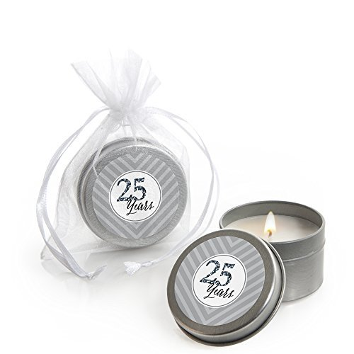 We Still Do - 25th Wedding Anniversary - Candle Tin Wedding Anniversary Party Favors - Set of 12 ()
