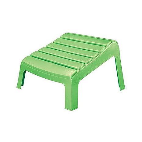 Plastic Adirondack Chairs With Ottoman.Adams 8380 08 3731 Adirondack Ottoman Summer Green