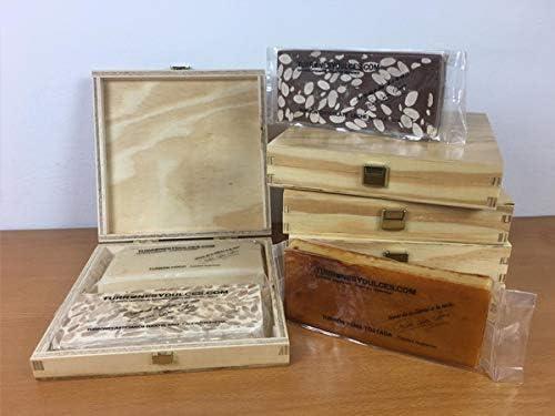 Turrones Fabián Caja Estuche de Pino con Tapa (vacía) - Barnizado y con Visagras Doradas - 20,5cm x 20,5cm x 4cm: Amazon.es: Hogar