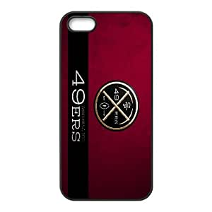 San Francisco 49ers Team Logo iPhone 5 5s Cell Phone Case Black 218y3-199825