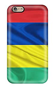 New Premium RewCCLR21197aJIiT Case Cover For Iphone 6/ Mauritius Flag Red Blue Yellow Green Stripes World Nature Other Protective Case Cover
