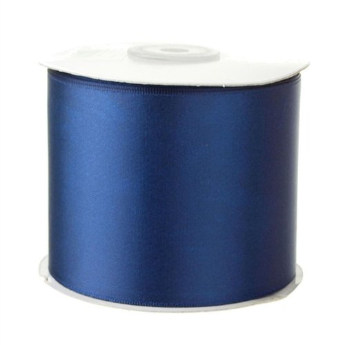 Homeford Firefly Imports Double Face Satin Ribbon, 2-1/2-Inch, 25 Yards, Navy Blue, 2.5
