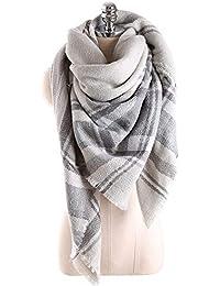 Scarfs For Women, HITOP Soft Classic Plaid Large Tartan Blanket Scarf Wrap, Womens Fall Winter Tassel Shawl Scarves
