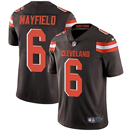 VF LSG Mens Cleveland Browns 6# Baker Mayfield Limited Brown Stitch Jersey