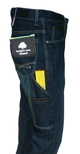 bestbewertet billig 100% authentisch Outlet zu verkaufen 247 Worker Jeans Wolf, Arbeitsjeans, Arbeitshose im 5 Pocket Style mit  Zollstocktasche