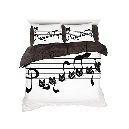 iPrint Flannel 4 Piece Cotton Queen Size Bed