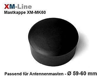 Kunstoffkappe f/ür 76/mm Masten zur Abdichtung vom Mast XM-Line XM-MK76 Mastkappe f/ür Antennenmasten
