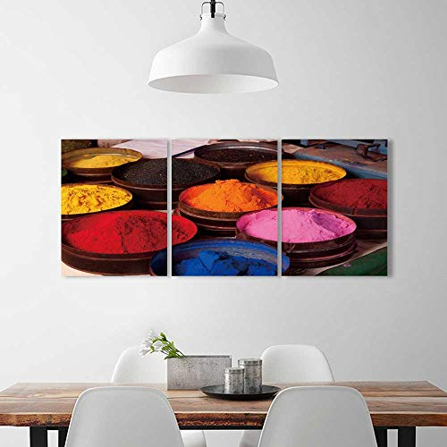 PRUNUS 3 Panel Wall Art Set Frameless Fabric Dyes in Cuzco The Kitchen, Dining Room, Living Room, Bar so on