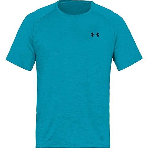 Under Armour Mens Tech 2.0 Short Sleeve T-Shirt, Deceit (439)/Techno Teal, Medium