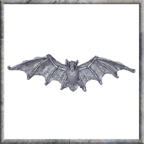 GOTHIC WINGED BAT Cast Iron 8 HOOK WALL SCULPTURE