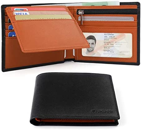 Vemingo Carteras de Hombre con Bolsillo de Moneda/Monedero con RFID Bloqueo para Tarjetas de Crédito Portamonedas Ligeros para Hombre/Adolescente ...