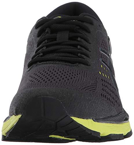 ASICS Mens Gel-Kayano 24 Running Shoe Black/Green Gecko/Phantom 6 Medium US by ASICS (Image #4)