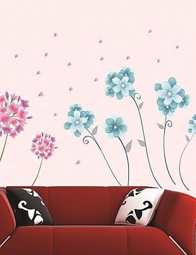 pegatinas de pared Tatuajes de pared, flores pentagrama romatic ...