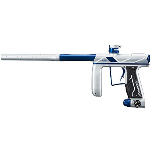 Empire Axe Pro Paintball Marker Gun - Dust Silver/Polished Blue