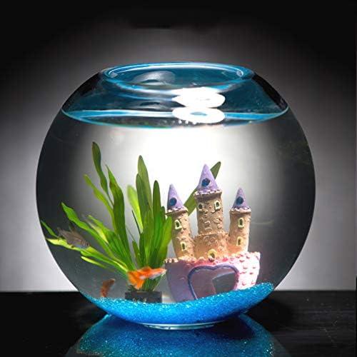水族館水槽卓上ガラス水槽生態学的な小さな観賞用水槽造園装飾水族館を開く
