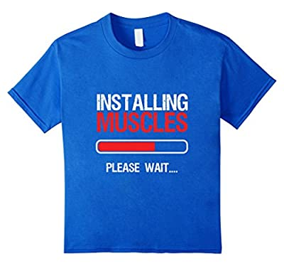 Funny Fitness Workout Gym T-shirt Installing Muscles