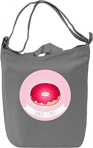 Donut Time Borsa Giornaliera Canvas Canvas Day Bag| 100% Premium Cotton Canvas| DTG Printing|
