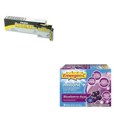 KITALA100007EVEEN91 - Value Kit - Emergen-C Immune Formula (ALA100007) and Energizer Industrial Alkaline Batteries (EVEEN91)