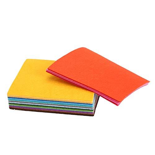 Cacys-Store - 40 colors/lot 15CMX15CM Felt Fabric Polyester Non-woven Felt 1 MM Thick Fabric DIY Felt Crafts Cloth Feutrine Fieltro Feltro