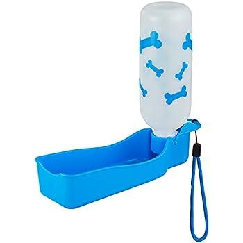 Anpet Travel Water Bottle 325ML /11oz Water Dispenser Portable Mug for Dogs (Blue)