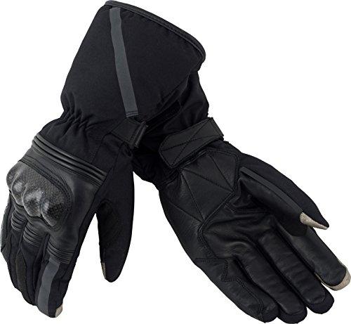 - Pilot Motosport Men's Obsidian Winter Motorcycle Gloves (Black, X-Large)