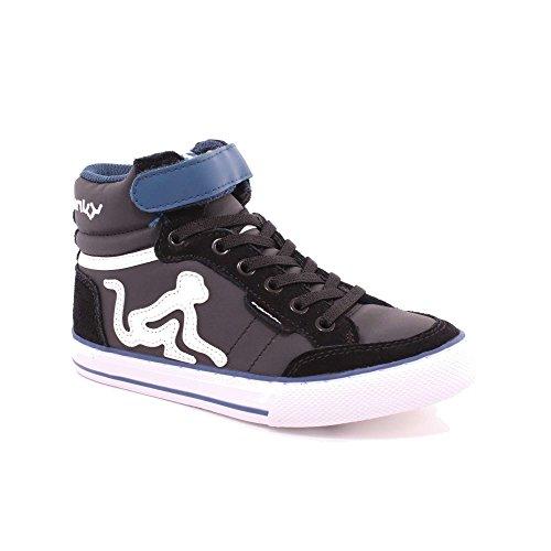 Bambino Boston nero a DrunknMunky Alto Camu Collo Sneaker SFgqUwfdY