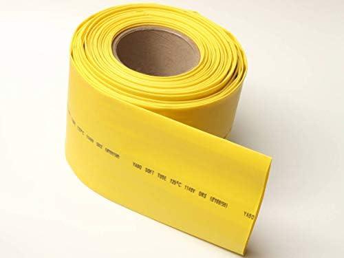 1mカット 黄 熱収縮チューブ100φ(収縮前直径100mm)厚手タイプ