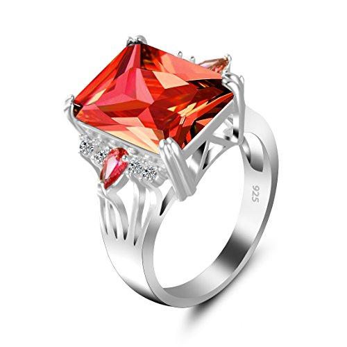 6fc5dc9f1314 Barato Anillo Mujer Zircon Titanio Crystal Clásico Adornos Chapado en oro  Piedra Mampostería Rojo Exageración