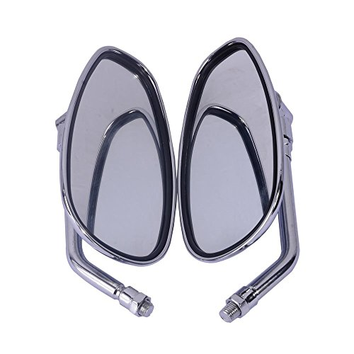 PME Left & Right Hand Side Rear View Mirrors Fit for Honda Motorcycle Shadow Rebel VTX VT CB Cruise (Type 2)