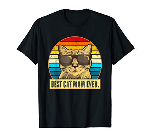 Vintage Best Cat Mom Ever Shirt Cat Mommy Mother Gift Women