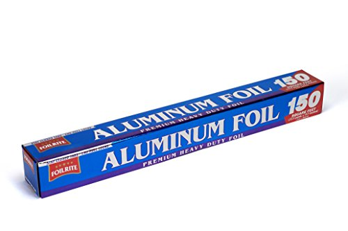 FoilRite 150 SqFt Heavy Duty Aluminum Foil Roll Extra Wide For Non Stick Baking and Easy Way to Grill, Bake, Line, Cook, BBQ (18 Inches)