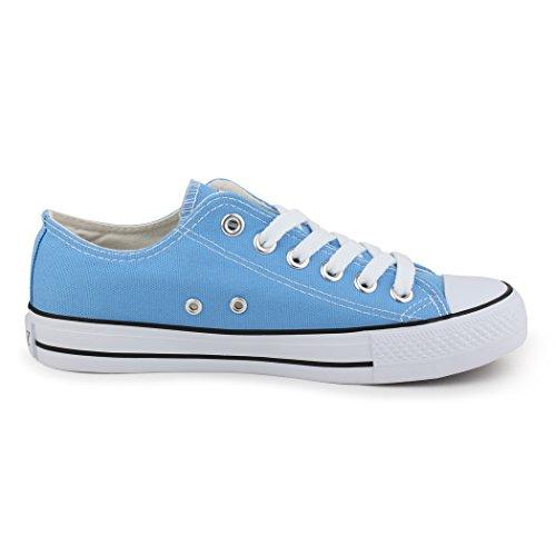 Best-botas para mujer zapatilla zapatillas zapatos de cordones estilo deportivo azul - azul claro