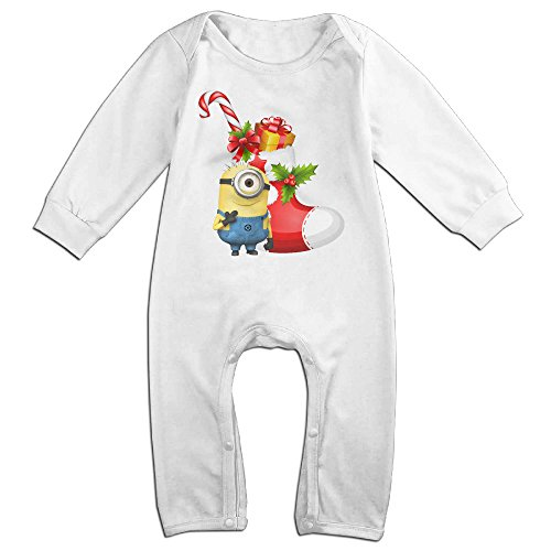 VanillaBubble Minions And Christmas For 6-24 Months Newborn New Design T Shirt White Size 24 Months