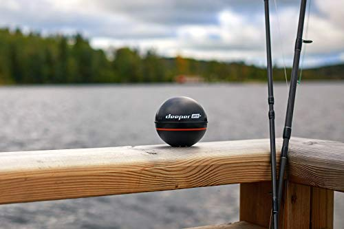 """Deeper PRO+ Smart Sonar - GPS Portable Wireless Wi-Fi Fish Finder for Shore and Ice Fishing, Black, 2.55"""" (DP1H10S10)"""