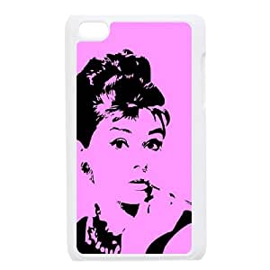 New Design Durable Back Cover Case for Ipod Touch 4 - Audrey Hepburn CM13L5207