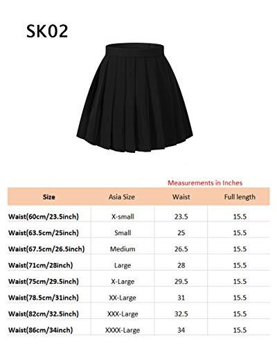 Girls`s School Uniform Pleated Short Skirts by Beautifulfashionlife (Image #6)