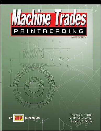 Amazon Com Machine Trades Printreading 9780826918673 Thomas E