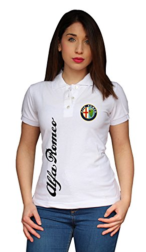 ZETAMARKT Polo Manica Corta Donna Alfa Romeo Racing Poloshirt Personalizzata