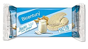Bicentury - Tortitas De Arroz Integral Sabor Yogur Nackis - 8 tortitas - 130.4 g