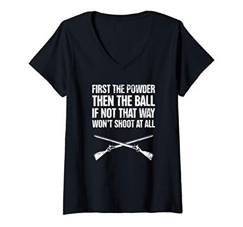 (Womens Flintlock - American History Civil War Reenactor V-Neck T-Shirt)