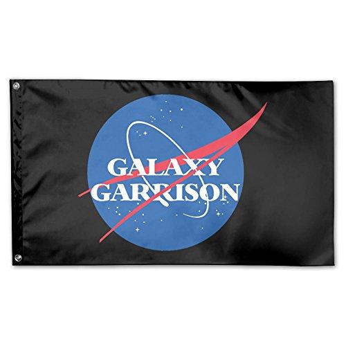 UDSNIS Voltron Galaxy Garrison NASA Parody Garden Flag 3 X 5 Flag For Outdoor Decoration Banner Black ()