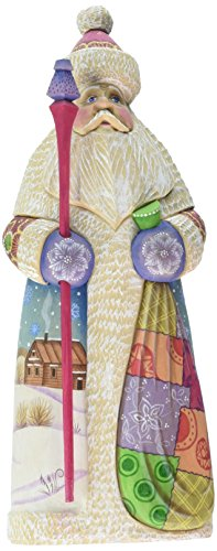 G. Debrekht Carved Wood and Hand-Painted Farewell Friends Santa, 7