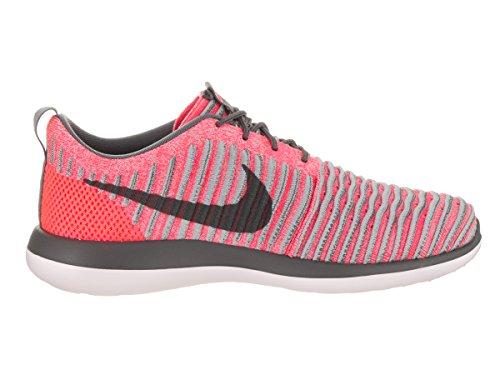 Nike Bambini Roshe Due (gs) Scarpe Da Corsa Flyknit Punch Caldo / Grigio Scuro Lupo Grigio