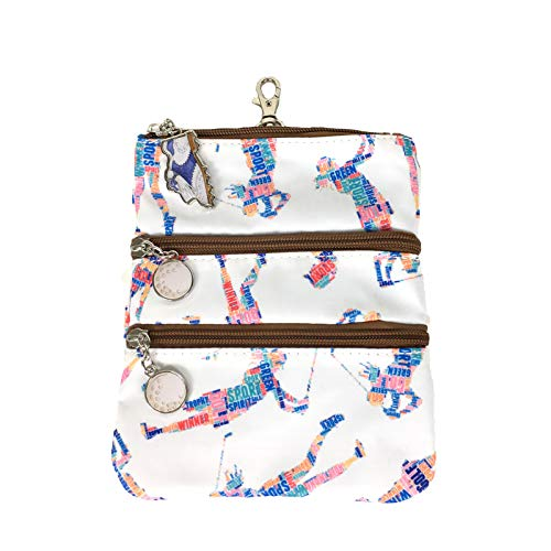 Sydney Love Sport Words with Golf Friends Clip On Zip Pouch, White Multi