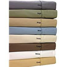 Queen Taupe 650-Thread-Count Sheet Set, Cotton-Blend Wrinkle-Free Sheets