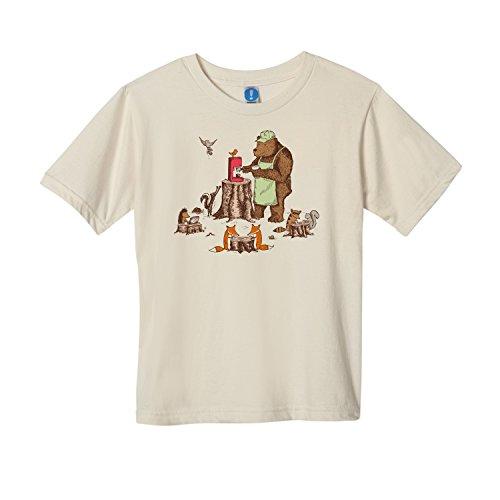 Shirt.Woot - Kids Your Friendly Neighborhood Bearista T-Shirt - Creme - 4