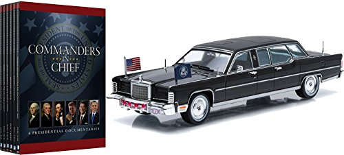 Commanders in Chief 6-DVD Set with Gerald Ford's 1972 Lincoln Continental Presidential Limousine 1/43 Size Diecast Car Bundle ()